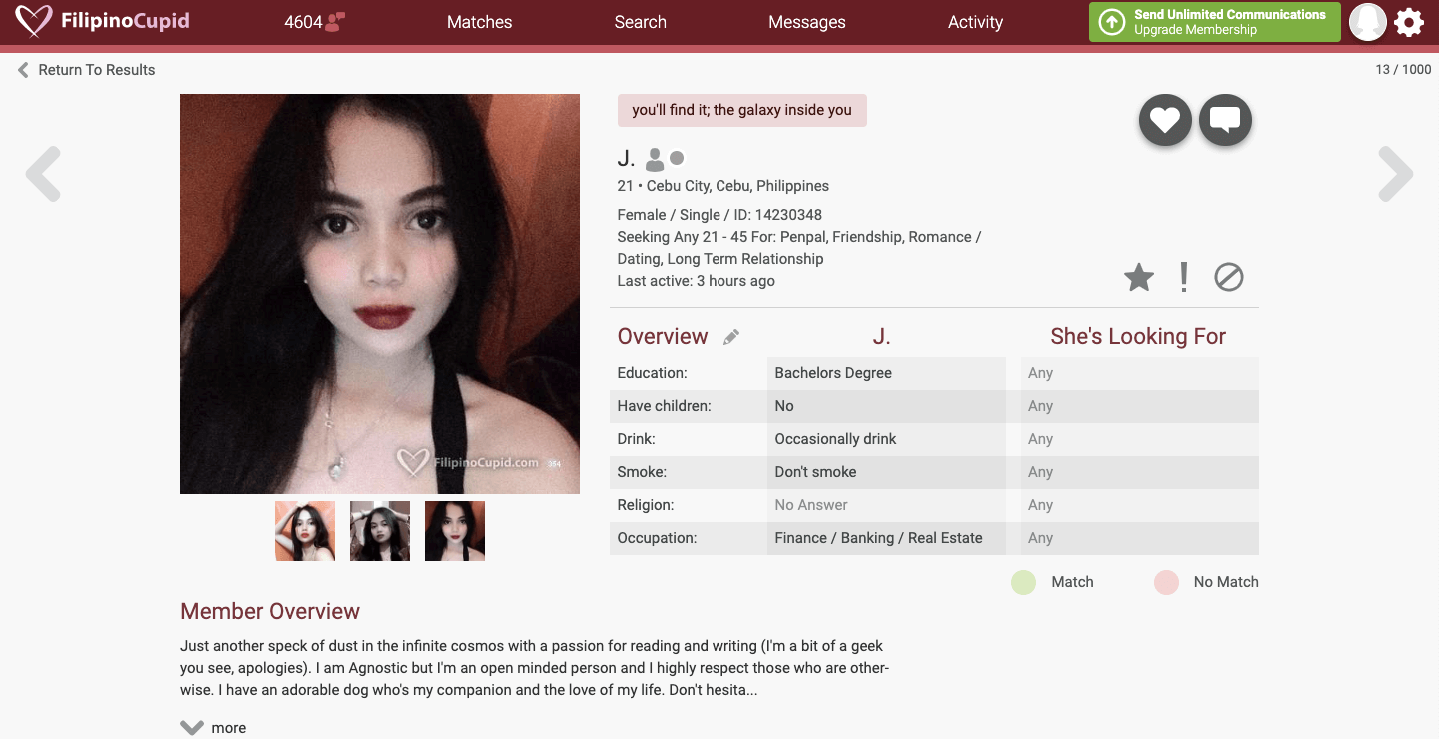 profili iz primjera datiranja